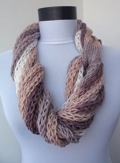 Scarf necklace loop scarf infinity scarf neck warmer by DreamList