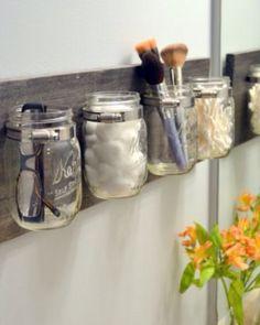 DIY mason jar organisers