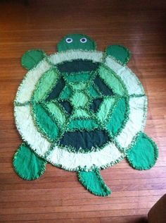 Turtle Rag Quilt Made from Simplicity Pattern #2493