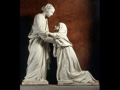 Luca della Robbia, The Visitation, about 1445. Glazed terracotta. Church of San Giovanni Fuorcivitas, Pistoia.