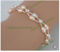 Blush Pearl Rhinestone Bracelet What to wear to a beach wedding. Blush Freshwater Pearl with Swarovski Rhinestones. Bracelets are made 7 Use the text box for any custom request to us. This bracelet is available in Blush Pearl only. Bead Jewellery, Pearl Jewelry, Crystal Jewelry, Beaded Jewelry, Jewelery, Handmade Jewelry, Bridal Bracelet, Pearl Bracelet, Wedding Jewelry