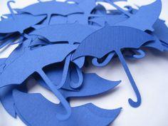 25 Umbrellas. CHOOSE SIZE & COLORS. Weddings, Favors, Wishing Tree, Confetti, Decoration. Blue, Black by TreeTownPaper on Etsy