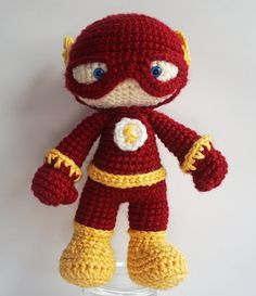 The flash! In crochet form! The cuteness!
