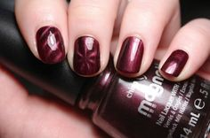 China Glaze Magnetix polish - you can make your own designs!  Just hold the magnet over the polish....