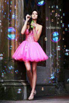 ❤ Pretty Prom Dresses, Sherri Hill Prom Dresses, Pink Mini Dresses, Pageant Dresses, Homecoming Dresses, Pink Dress, Pink Tutu, Orange Dress, Wedding Dresses