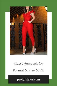 Take your style to the next level with an elegant formal jumpsuit that is a suitable date night outfit for women smart casual look. Wear this trendy orange jumpsuit as cute outfit ideas for going out looks. This fashionable jumpsuit is a fancy date night outfit for women stylish look. Shake up your fashion look with a classy jumpsuit the perfect formal outfits for women special occasions, formal fashion style,. Classy formal wear, smart Stylish fashion ideas #womensfashion #fashion #style Formal Outfits, Casual Dress Outfits, Edgy Outfits, Classy Outfits, Formal Wear, Jumpsuit Dressy, Cocktail Outfit, Outfit Styles, Casual Styles