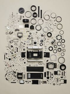 series of disassembled electronics objects from photographer Todd McLellan
