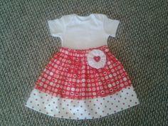 Valentines Day Girls Skirt by KidsAtelier on Etsy, $16.00