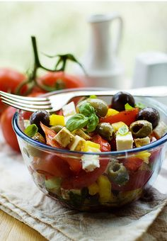 Greek Salad. Paula's is super good, it looks kinda like this too