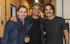 Os atores Murilo Rosa, Domingos Montagner e Ricardo Pereira durante gravação do…