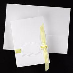 Bright White Pocket with Slits weddingneeds.carlsoncraft.com