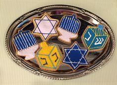 Hanukkah cutout cookies Order a set at FeltSewReal@aol.com