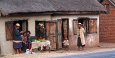 Madagascar - Waiting for the chilly winter night, along the famous RN7 (national road n°7), between Ambatolampy and Antsirabe.
