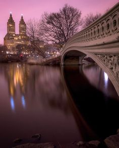 Central Park New York after sunset