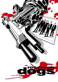 Reservoir Dogs is one of the best films I have ever seen. It is so logical and really plays with your mind. Also some pretty hard scenes to watch. Quentin Tarantino, Tarantino Films, Best Movie Posters, Movie Poster Art, Reservoir Dogs Poster, Gravure Illustration, Plakat Design, Image Film, Dog Poster