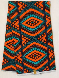 House of Mami Wata African Print Fabrics: African Print Fabric/ Ankara - Orange, Teal 'Ogbomo Li African Textiles, African Fabric, African Patterns, Mode Wax, African Print Fashion, Ankara Fashion, Africa Fashion, African Artwork, Africa Art