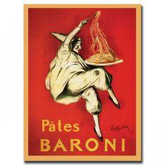 """Trademark Global Pates Baroni by Leonetto Cappiello, Traditional Canvas Art - 37"""" x 49"""" - V6079-C354"""