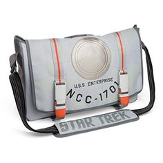 This Star Trek Starship Messenger Bag features the Enterprise herself stitched on the exterior. The interior features a blue Star-Trek-themed lining and padding all around, so you can keep your tricorder in here without worrying about busting it.