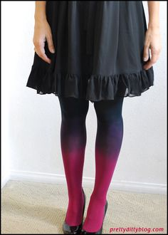 How to gradient-dye polyester using iPoly dye. Perfect for Haylie's dress
