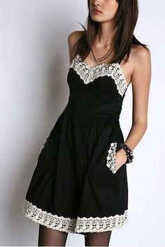 TRICO y CROCHET-madona-mía: Blusas y vestidos de verano para mujeres con aplicaciones en Crochet