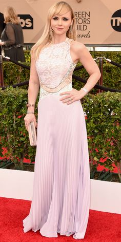 2016+SAG+Awards+Red+Carpet+Arrivals Christina Ricci in Christopher Kane from InStyle.com
