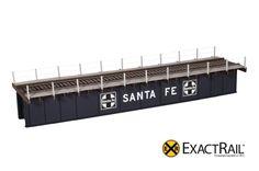 72' Deck Plate Girder Bridge, Cable Handrails : ATSF