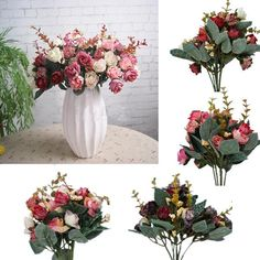 Discount Vintage Silk Artificial Rose Decor Flower Bouquet Handmade Wedding Party Decorative Crafts To Choose From China | Dhgate.Com