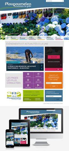 Création du site Internet de la ville de Plougoumelen (56) : #Web #Webdesign #Responsive #Mairie #Ville #Public : www.plougoumelen.fr by @creasit