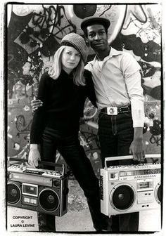 Tina Weymouth from Talking Heads and Tom Tom Club with Grandmaster Flash