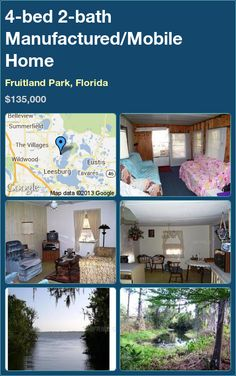 4 Bed 2 Bath Manufactured Mobile Home In Fruitland Park Florida