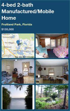 4 Bed 2 Bath Manufactured Mobile Home In Fruitland Park Florida