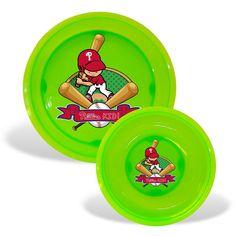 Philadelphia Phillies MLB Toddler Plate and Bowl Set