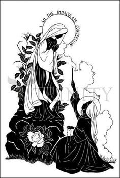 Behold Thy Mother | Catholic Christian Religious Art - Silhouettes ...