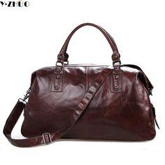 774292f194 really cowhide genuine leather man bags large capacity men travel luggage  bag vintage men shoulder crossbody