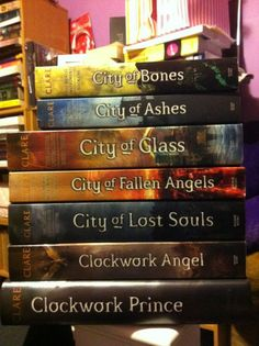 Mortal Instruments & Infernal Devices series by Cassandra Clare.  <3