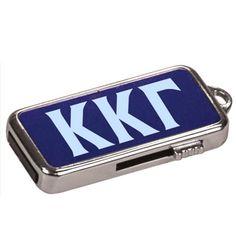 Greek Engraved Blue USB Drive #Greek #Sorority #Fraternity #KeyChain #USB #SchoolSupplies #BackToSchool #Accessories #Gifts