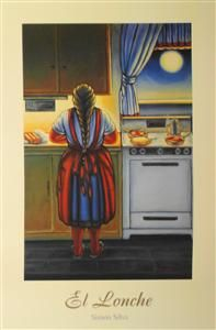 In our culture grandma woke up at the crack of dawn to make sure thier family was fed (with love). Mexican Paintings, Hispanic Art, Latino Art, Pix Art, Chicano Art, Mexican Folk Art, American Artists, Dawn, Art Projects
