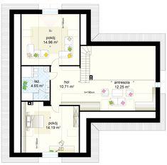 Projekt domu Klimek 2 135.62 m² - Domowe Klimaty Bungalow House Plans, House Entrance, Ground Floor, Floor Plans, House Design, Bungalows, How To Plan, Interior Design, Architecture