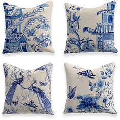 Cheap Throw Pillow Covers, Pillow Covers Online, Throw Pillow Cases, Decorative Throw Pillows, Cushions On Sofa, White Cushions, Bed Pillows, Blue And White Dinnerware, Bleach Color