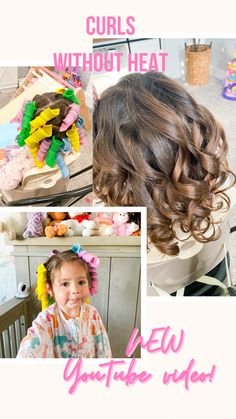 Curls Without Heat, Heatless Curls, Toddler Hair, More Cute, Toddlers, Hairstyles, Youtube, Closet, Instagram