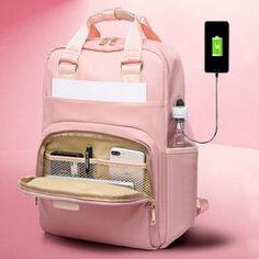 Site Mode, Pink Laptop, Laptop Rucksack, Laptop Bags, Usb, In China, Organizer, Backpack Bags, Hobo Bags