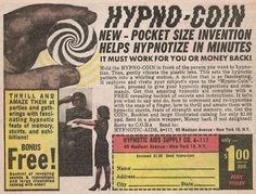 HYPNO-COIN COMIC BOOK VINTAGE AD by Christian Montone, via Flickr