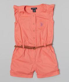 Baby Girl Stuff: calypso peach angel sleeve romper infant toddler g...