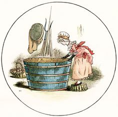 Old Design Shop ~ free digital image: Kate Greenaway illustration - Miss Molly and the Little Fishes