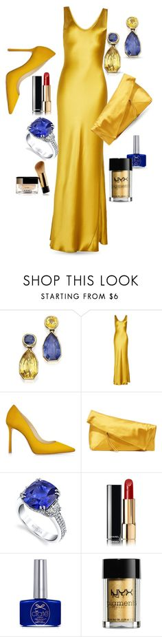"""""""Academy Awards"""" by queenofsienna ❤ liked on Polyvore featuring Galvan, Diane Von Furstenberg, Harry Kotlar, Chanel, Ciaté and NYX"""