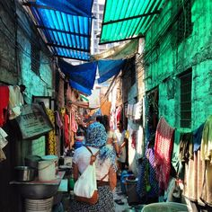 Slums in Calcutta, India