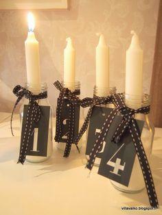 adventtikynttiläideoita, adventtikynttilät, advent candles Advent Candles, Christmas Candles, Christmas Lights, Twinkle Lights