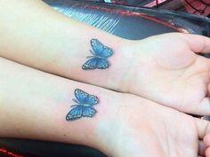 3D butterfly tattoo 46 - 65 3D butterfly tattoos <3
