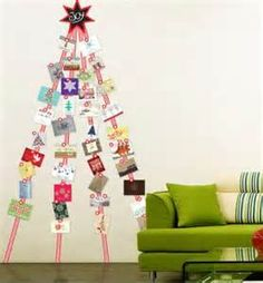 One way to hang your Xmas cards