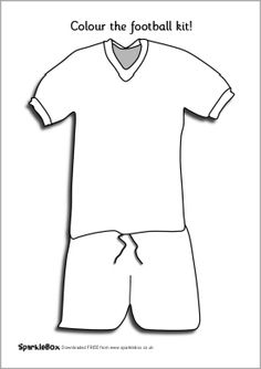 Simple printable colouring pages featuring blank football kits. Children can design and colour their own national, local or school football kits. School Football, Football Kits, School Sports, Football Crafts, Sports Art, Kids Sports, Colouring Pages, Coloring Sheets, Olympics Kids Crafts